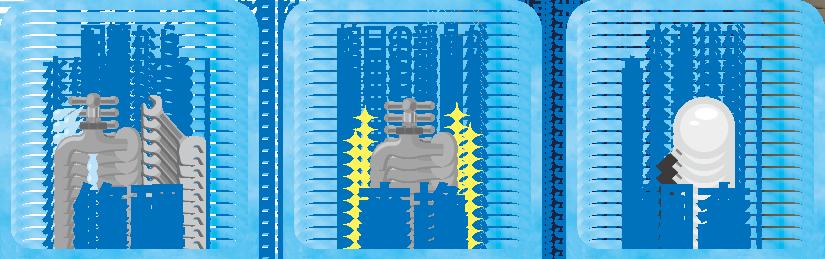 急な水漏れトラブル(修理、部品交換、調査)に対応いたします。